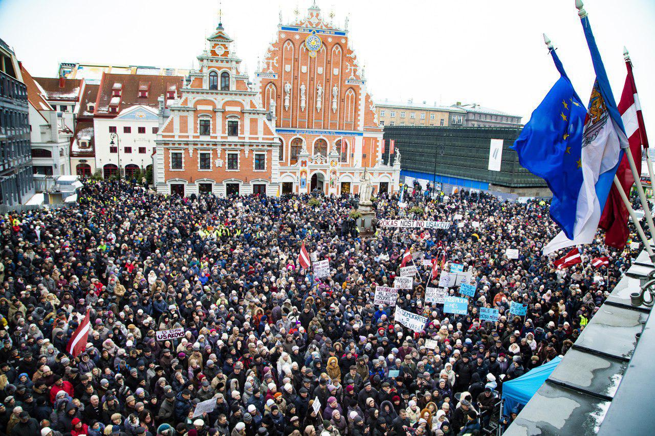 Rīgas mēra Nila Ušakova uzruna mītiņā par rīdzinieku tiesībām pašiem lemt, kas pārvalda pilsētu
