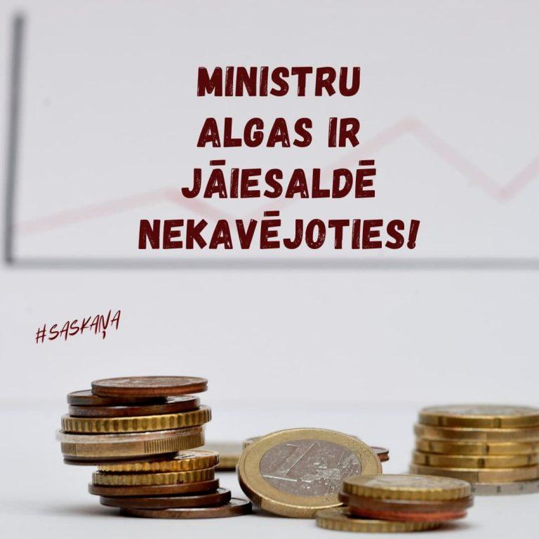 Opozīcija savākusi parakstus Saeimas ārkārtas sēdes sasaukšanai jautājumā par ministru algu iesaldēšanu
