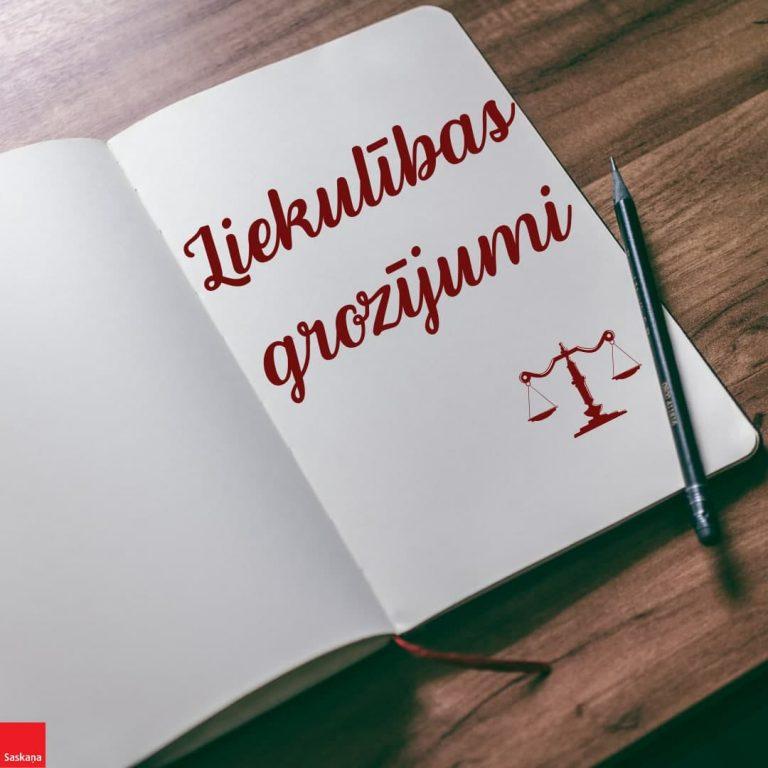 Saeimas SASKAŅA frakcijas viedoklis: Liekulības grozījumi