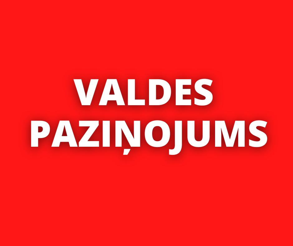 """""""Saskaņa"""" Sociāldemokrātiskās partijas Valdes paziņojums."""
